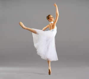 Ballerina  In Ballet Pose Classical Dance